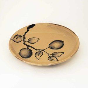 Nathalie Hubert Assiette plate motif citron