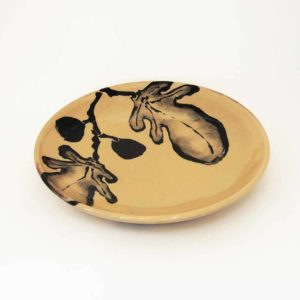 Nathalie Hubert Assiette plate motif figue