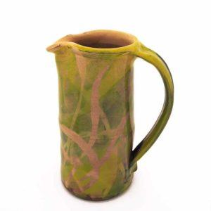 Nathalie Hubert grand pichet émaillé motifs herbes