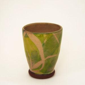Nathalie Hubert tasse à café emaillée verte