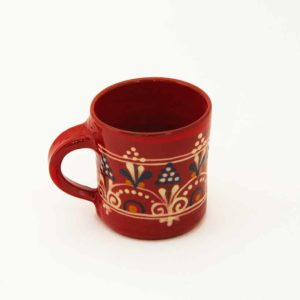 Véro & Jean-Claude Ricard tasse à café terre vernissée rouge