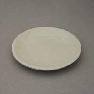 Superbe assiette à dessert dessinée par Florence Marquet, pièce unique en porcelaine